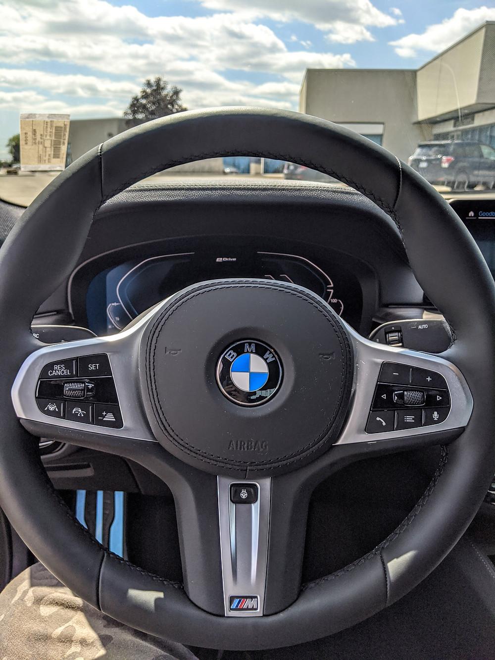 2020 BMW 530e Steering Wheel