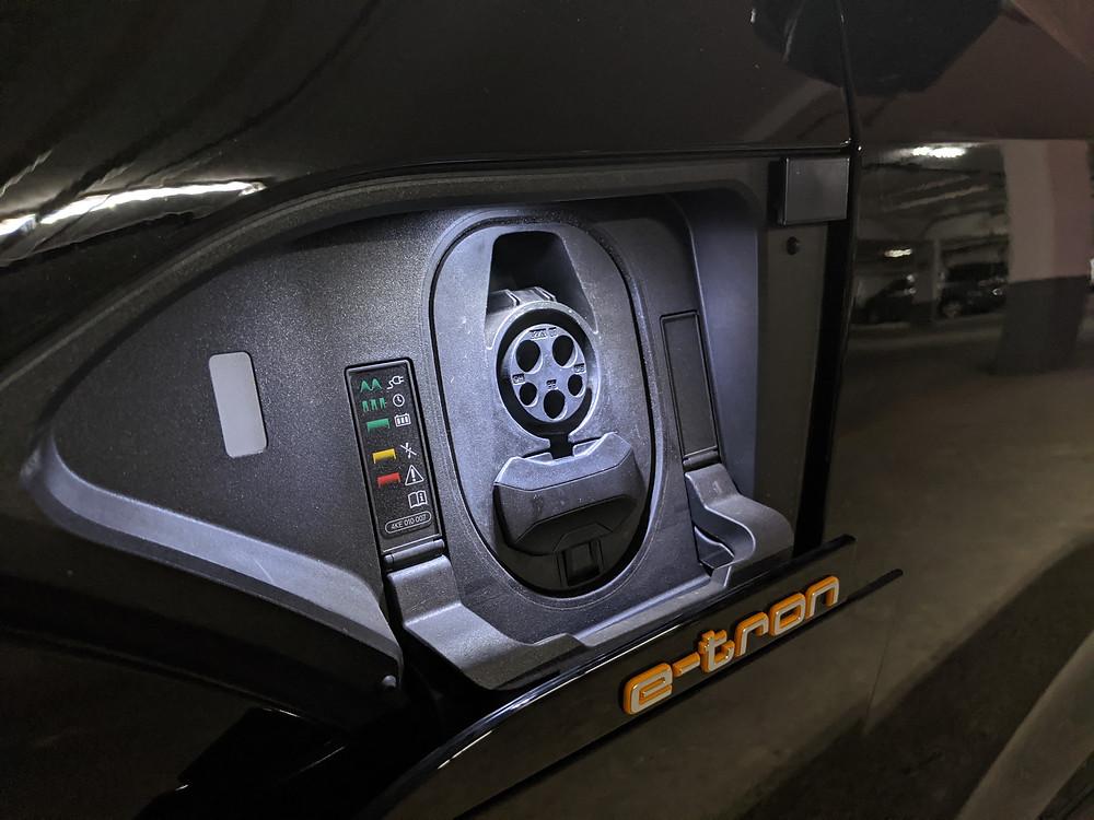 Audi E-Tron Charging Port Open