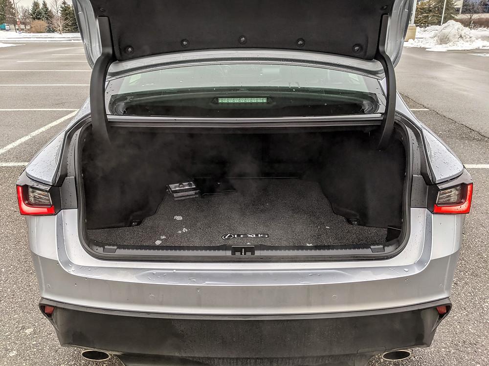 2021 Lexus IS Trunk Space