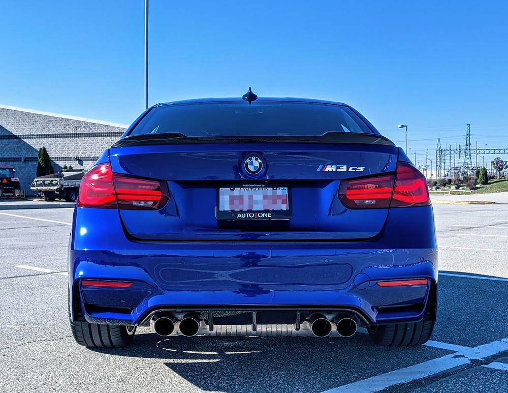 BMW M3 CS Rear Blue