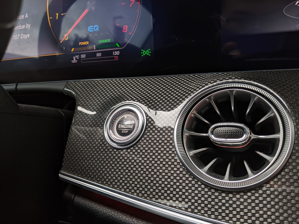 Mercedes E Class AMG Start Button