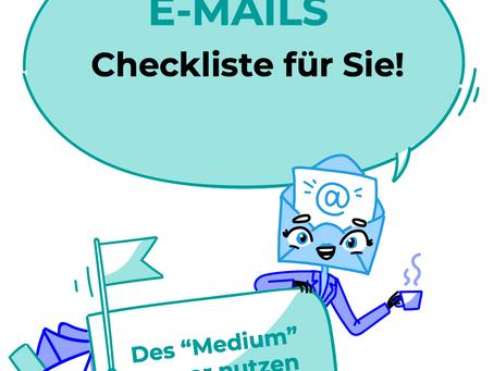 WIE Sie Ihre E-Mails effektiver erledigen - Checkliste