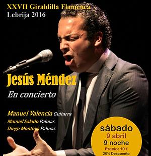 JESUS MENDEZ CON Producciones de Flamenco Sampedro