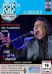 JOSE DE LA TOMASA con Producciones de Flamenco Sampedro
