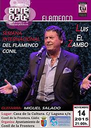 LUIS EL ZAMBO con Producciones de Flamenco Sampedro