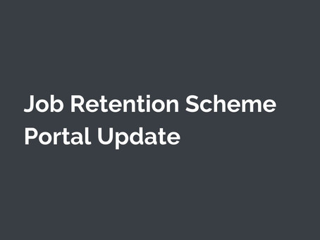 Job Retention Scheme Portal Update