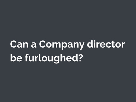 Can a Company director be furloughed?