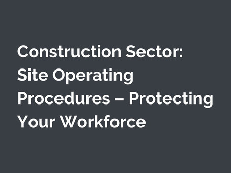 Construction sites: protect your workforce