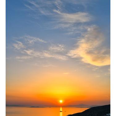 Sunset, Saronis, Greece