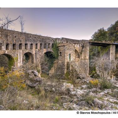 Karytaina - The church in the old stone bridge