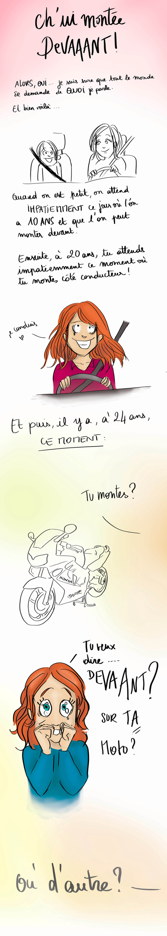 Ch'ui montée devaaant !!!