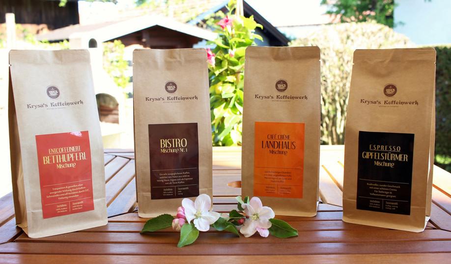 Sortenübersicht Krysa's Koffeinwerk