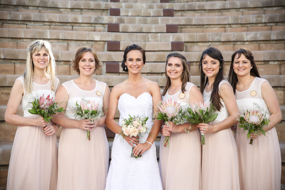 beautiful bride and bridesmaids cape town wedding photographers