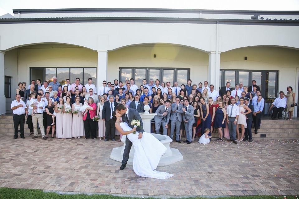 wedding group photo photographed by Zandri du Preez Photography Wedding Photographers Cape Town