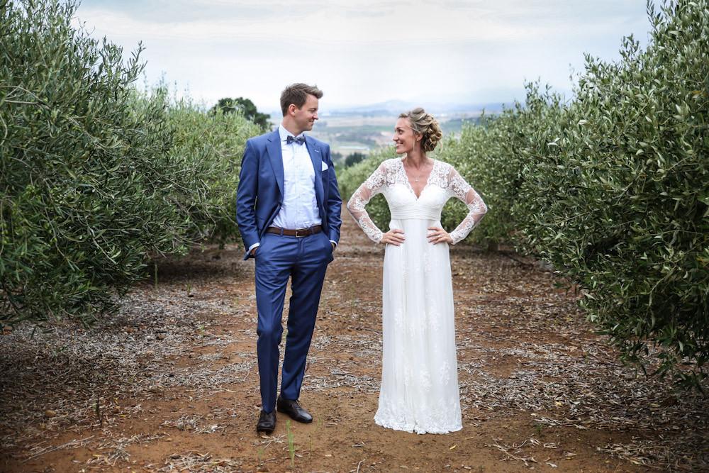 Olive trees bride & groom