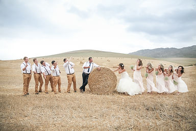 Bridal party photoshoot in hay field photographed by Zandri du Preez Photography Wedding Photographer Cape Town