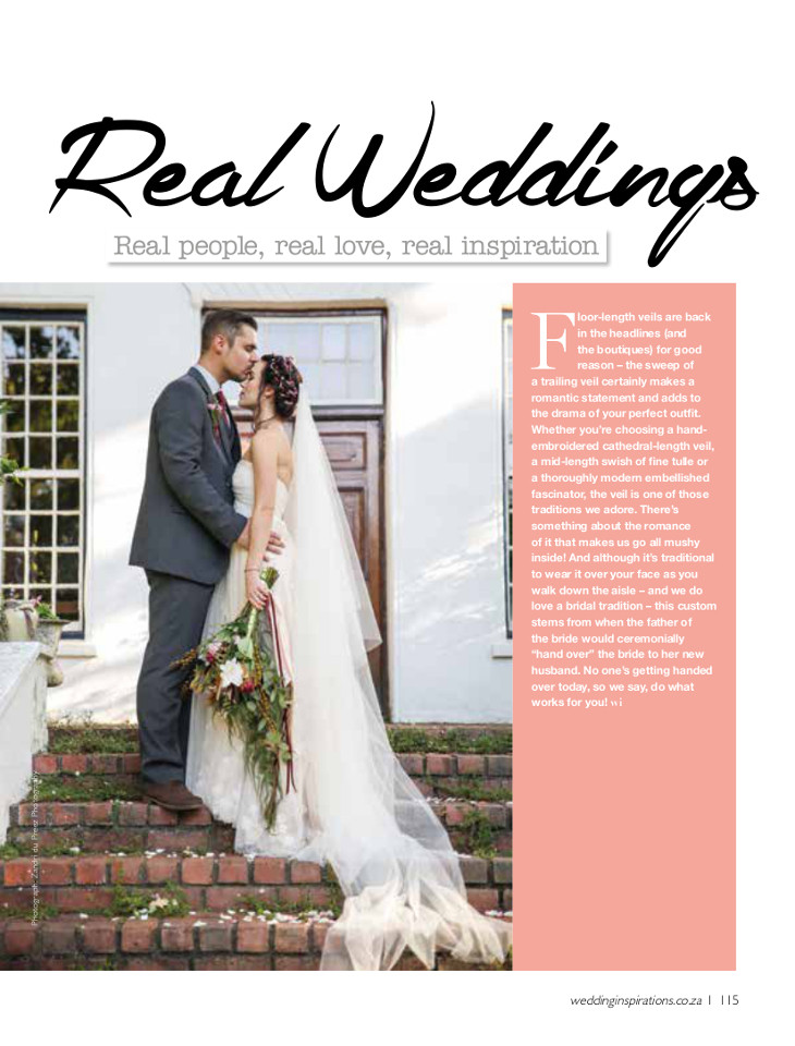Real Weddings Wedding Inspirations Magazine photographed by Zandri du Preez Photography Wedding Photographers Cape Town