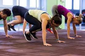 exercising in a 30 minute bodyweight class