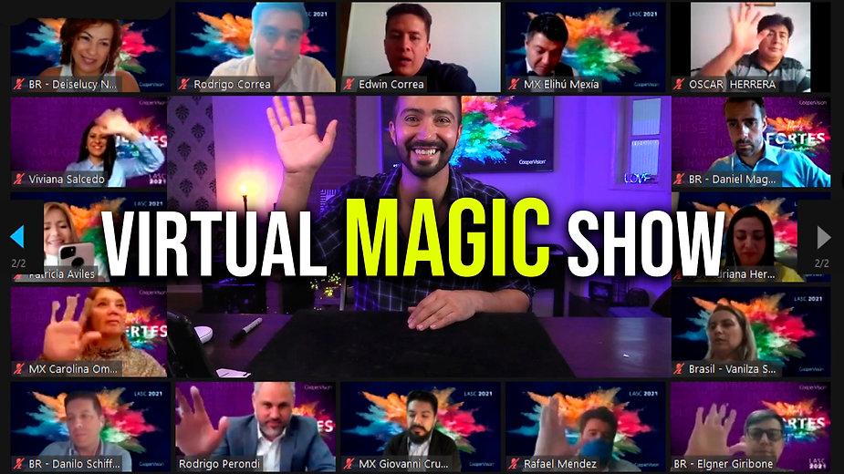 Virtual Magic Show for events - Eduardo