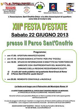 Volantino festa SantOnofrio 22 giugno 20
