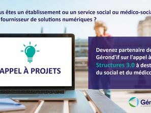 Appel à projets Structures 3.0 à destination du social et du médico-social