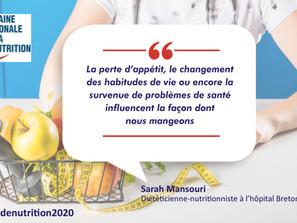 Comment se protéger de la dénutrition : Les conseils de Sarah MANSOURI, diététicienne-nutritionniste