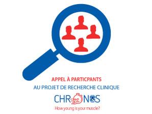 Appel à participation pour un projet de recherche sur l'évaluation de l'âge des muscles