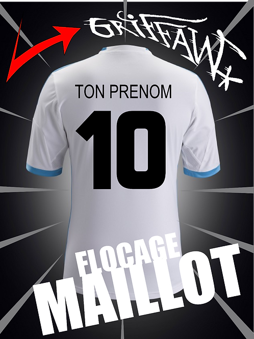 Flocage MAILLOT N°+ PSEUDO