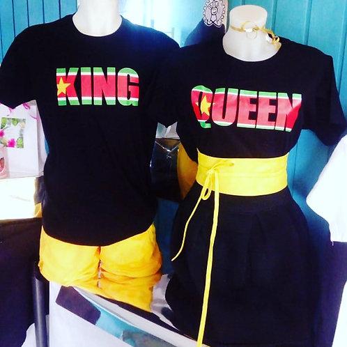 Tee-shirt King ou Queen Guadeloupe