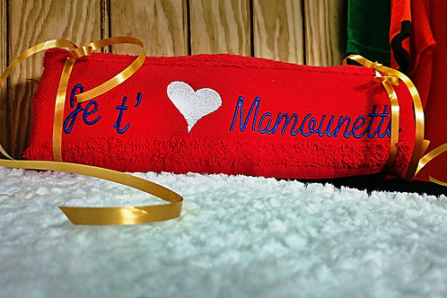 Serviette de bain Je t'aime Mamounette