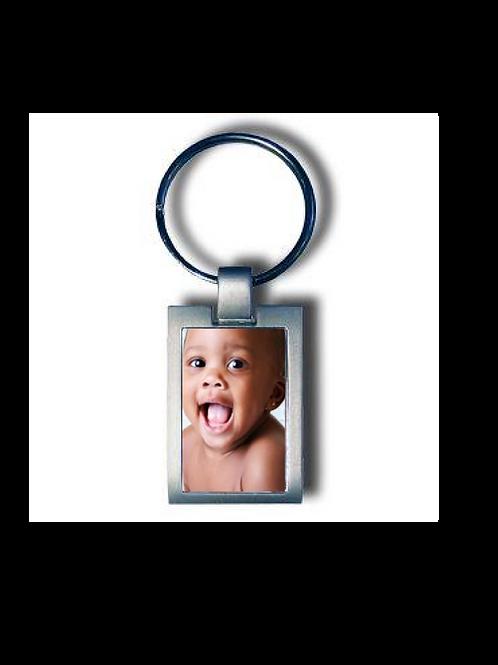 Porte clefs metal + boite avec photo