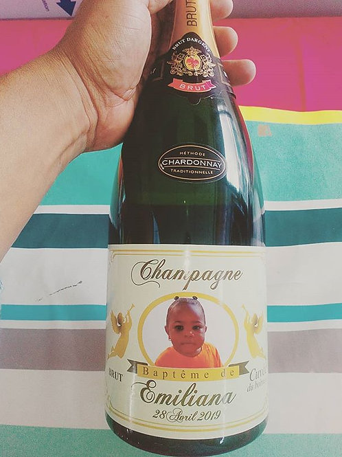 Sticker pour bouteille de champagne