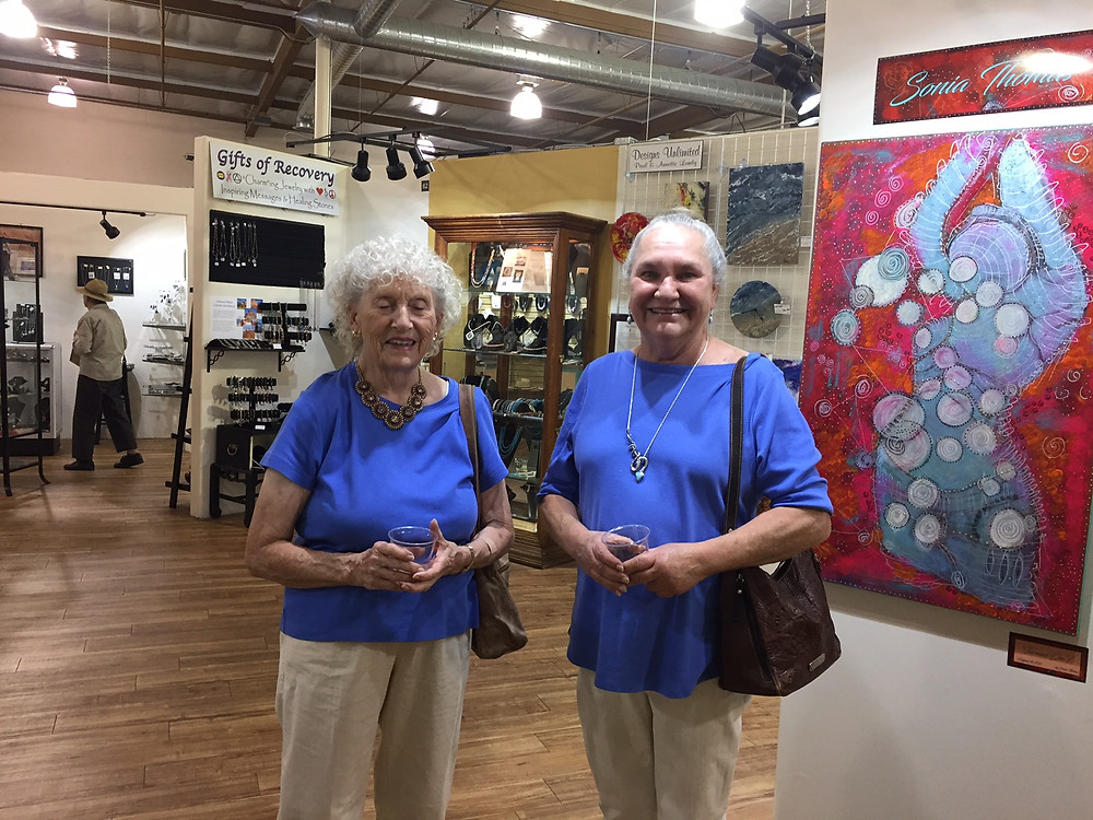 Two of our local artists.  Adrienne Pritchard and Ruth Cornell
