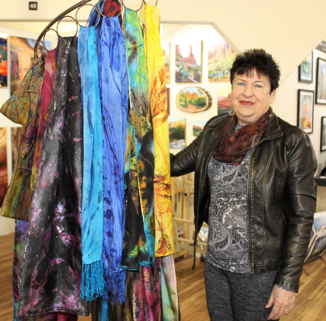 Painted Silk Scarves by Karen Spehar