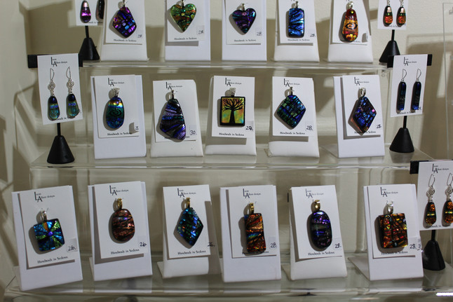 Laura Albert: Dichroic Glass Jewelry Artist