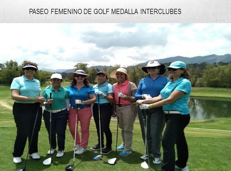 PASEO FEMENINO DE GOLF MEDALLA INTERCLUBES