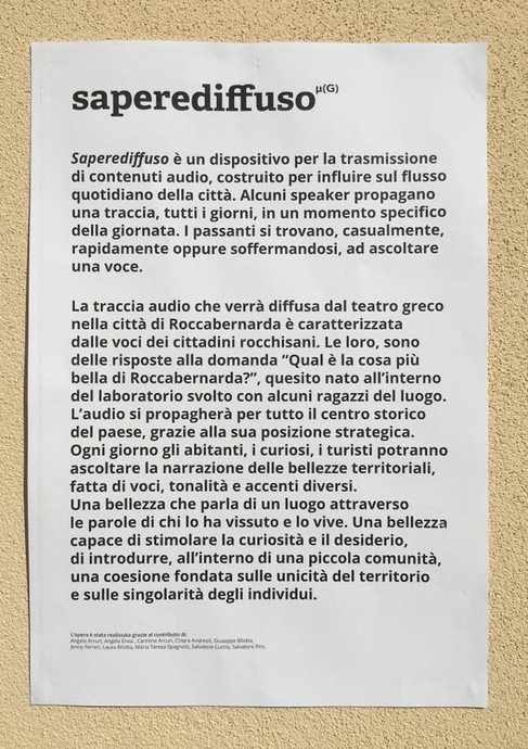 SapereDiffuso Roccabernarda Numero Cromatico