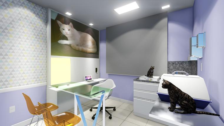 Clínica Felina - 3D do Consultório 2