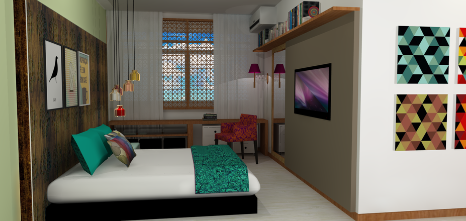Quarto MP - Vista 3D do Quarto