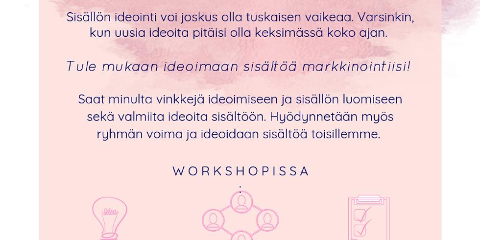Ideoita sisältöön -workshop (Turku)