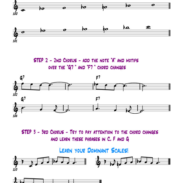 Blues Scale/Step 2 & 3