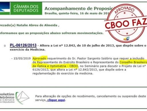 Requerimento para inclusão de Representante do Conselho Brasileiro de Óptica e Optometria - CBOO, no