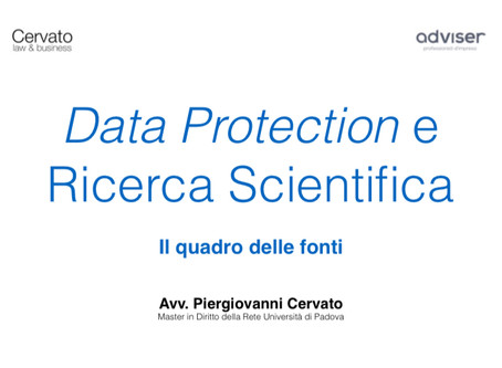 Privacy e Ricerca Scientifica: le fonti