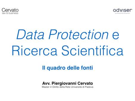 Privacy e Ricerca Scientifica: le fonti