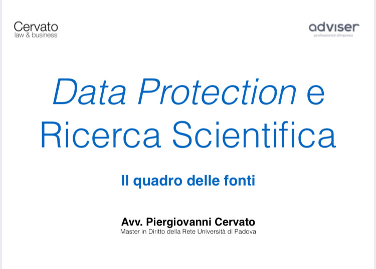 privacy e ricerca scientifica