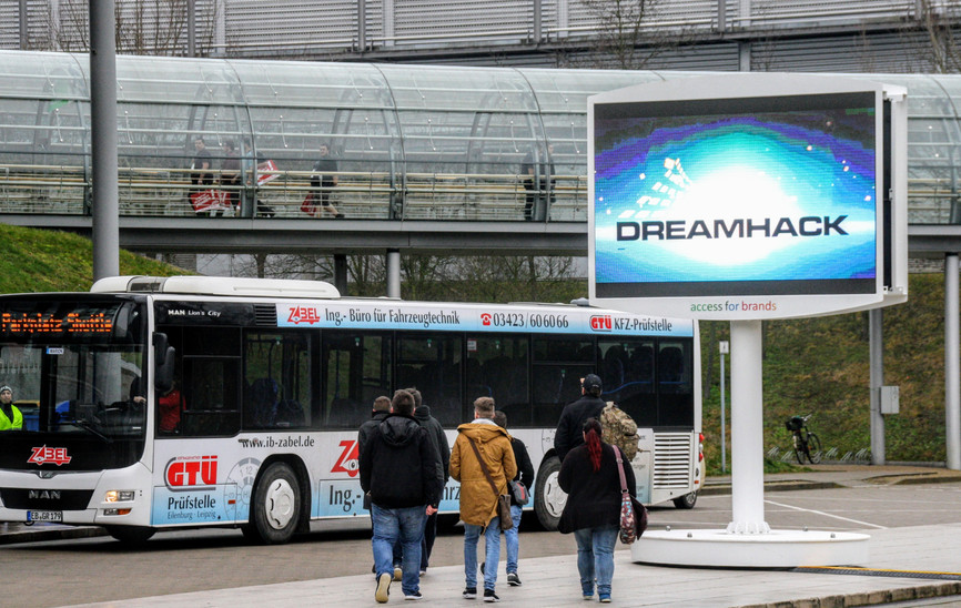 DOOH Umetzung Dreamheck accessforbrands.de