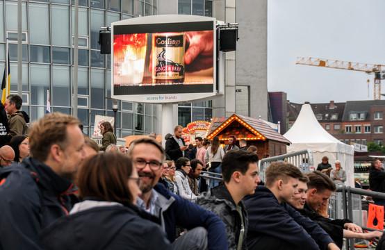 DOOH INTEGRATION ZUM EVENT KIELER WOCHE 2018, BRAND GOSLING
