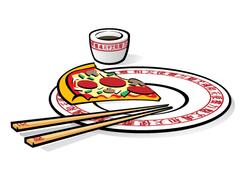 Chinese Pizza Takeout Art