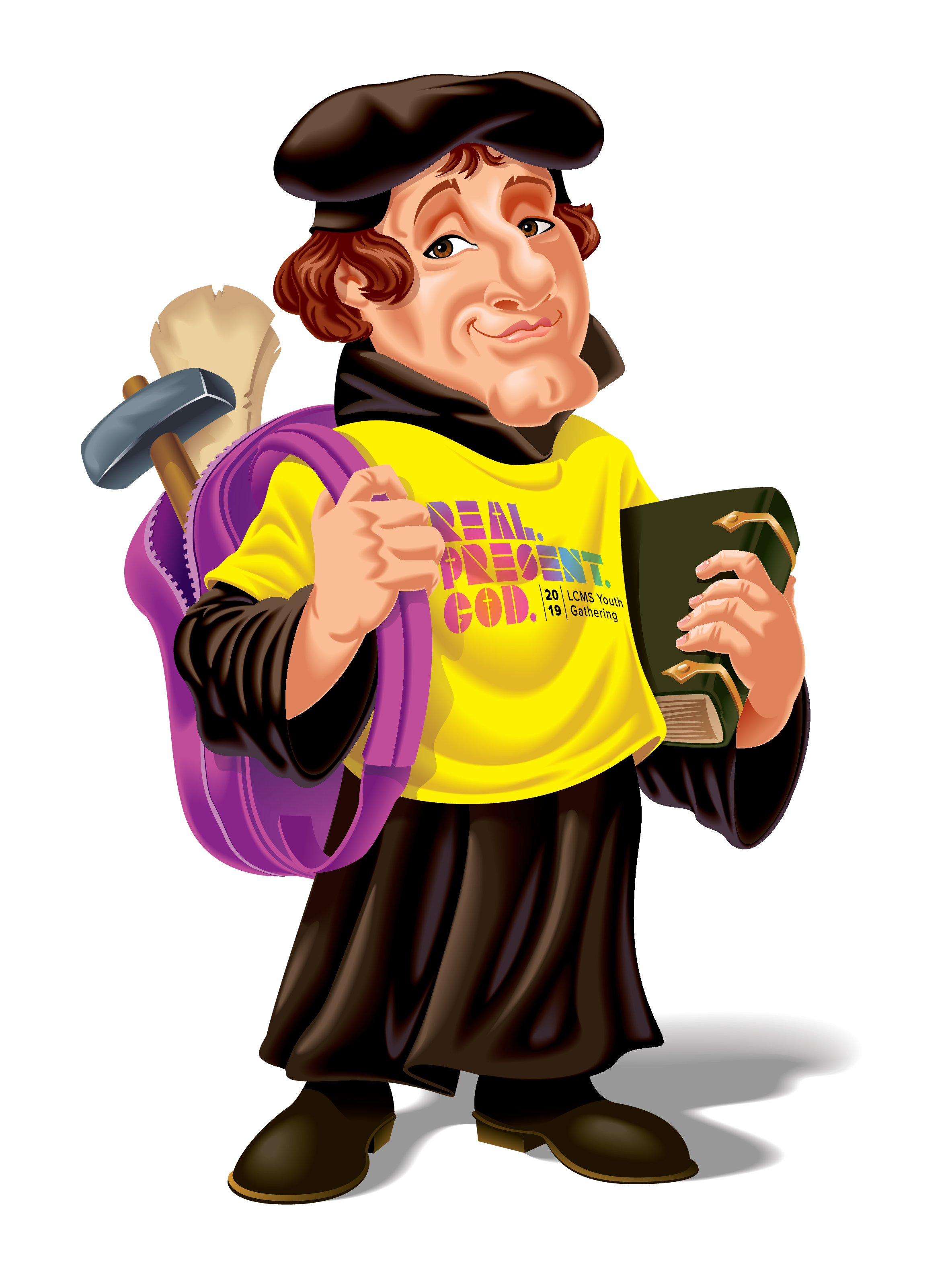Martin Luther Caricature