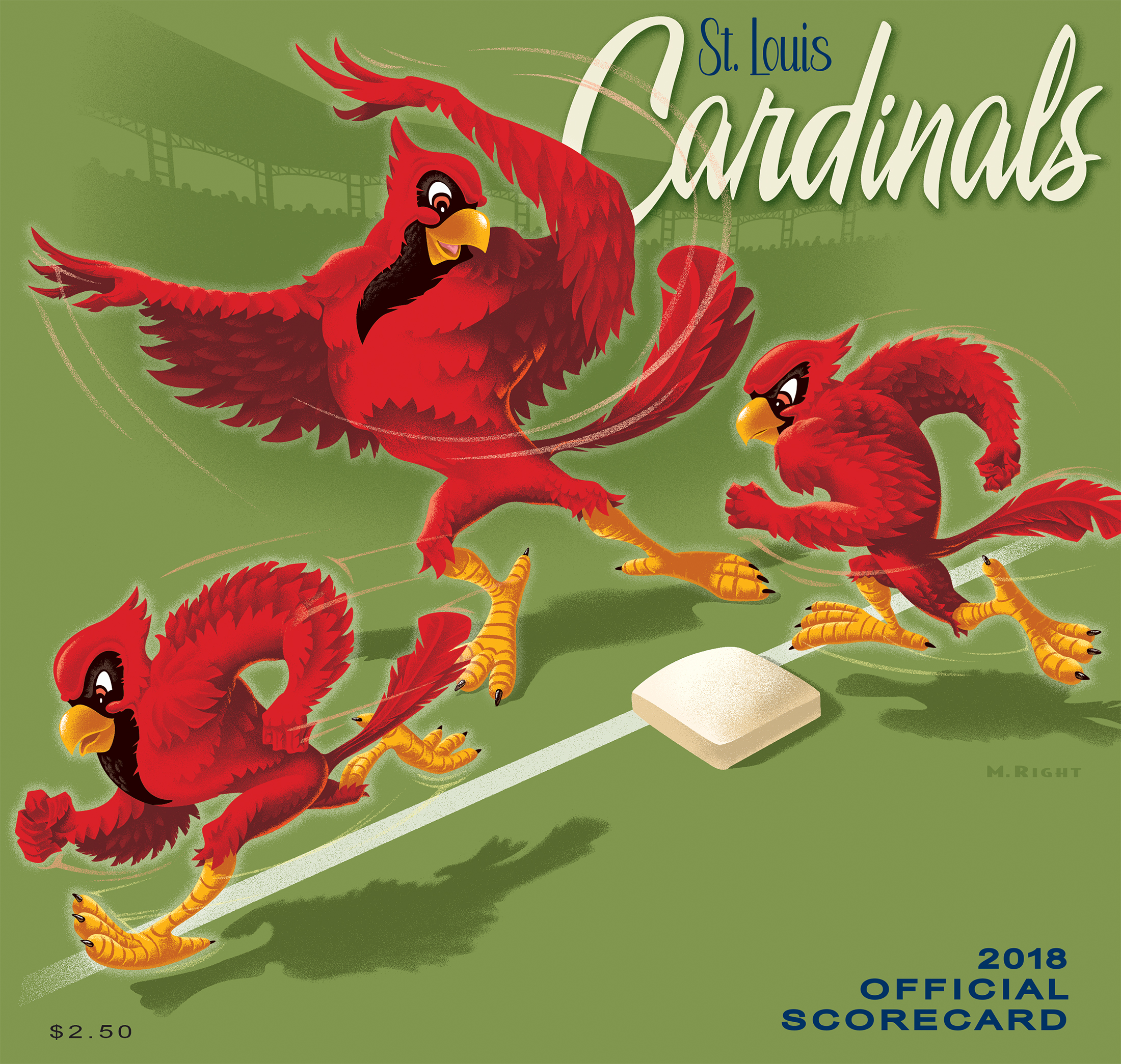 2018 Cardinals Official Scorecard